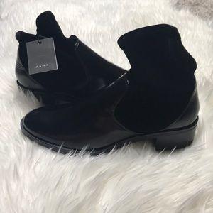 Shoes - New Zara Velvet Sock Ankle Boots